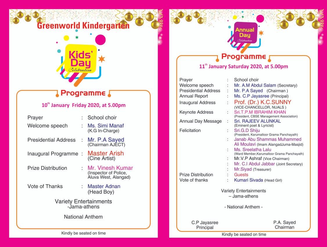 Kids' Day & Annual Day Celebration..